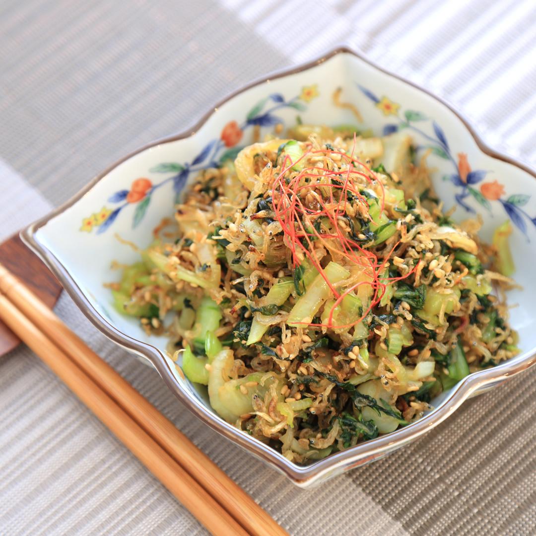 坂田さん家のチンゲン菜とジャコ炒め