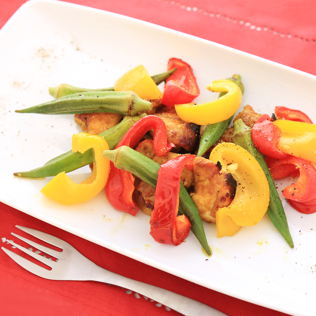 岸田さん家の鳥もも肉と野菜のグリル
