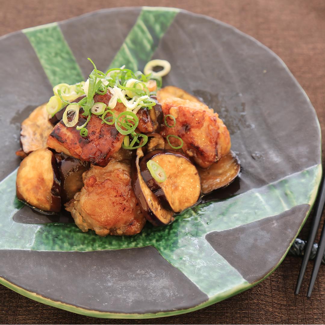 吉村さん家の鶏もも肉とナスのポン炒め