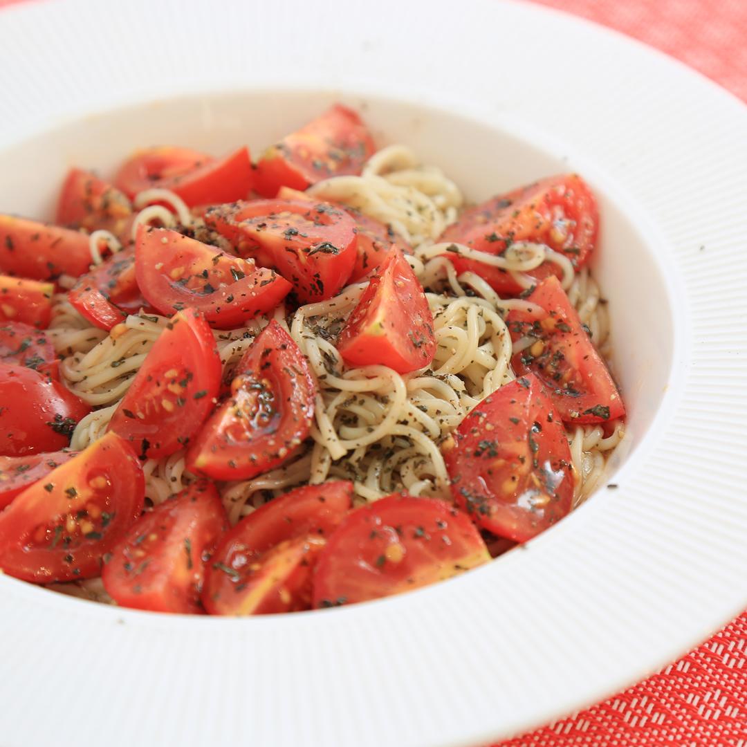 後藤さん家のトマトとバジルのそうめんカッペリーニ