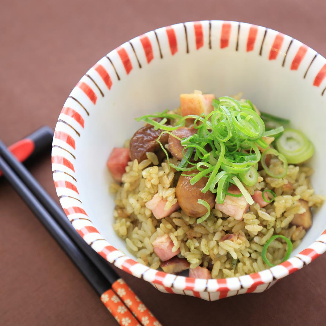 佐々木さん家の甘栗とベーコンの炊き込みご飯