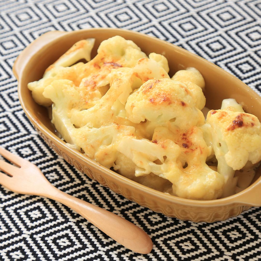 上島さん家のカリフラワーのマヨポンチーズ焼き