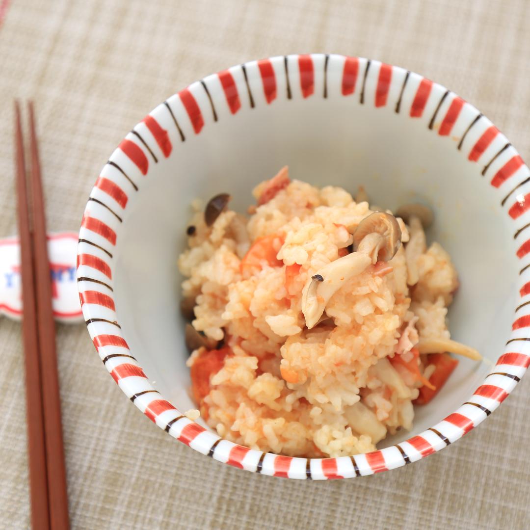 ポタ子さん家のトマト丸ごと炊き込みご飯
