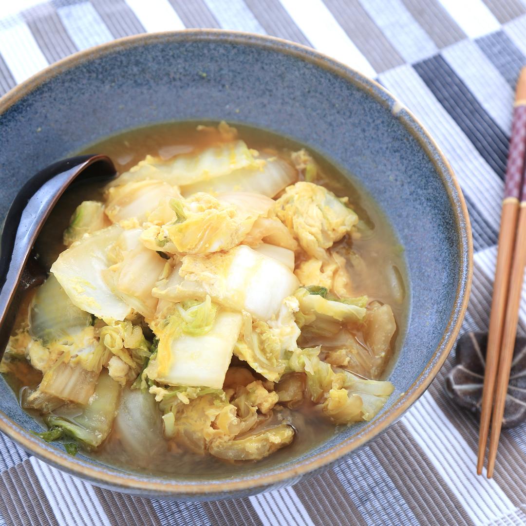 松本さん家の白菜と卵のあったか煮
