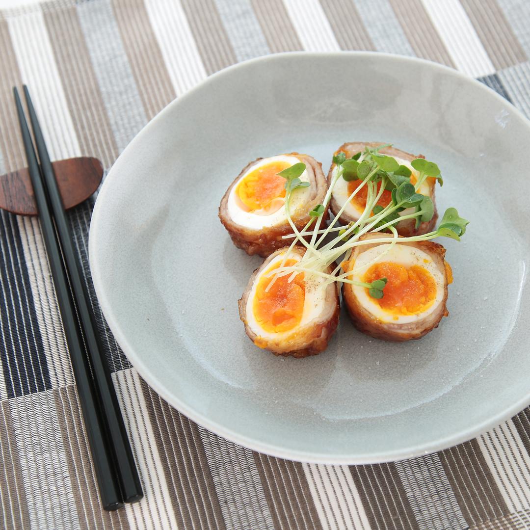 ポタ子さん家のゆで卵の豚バラ巻き