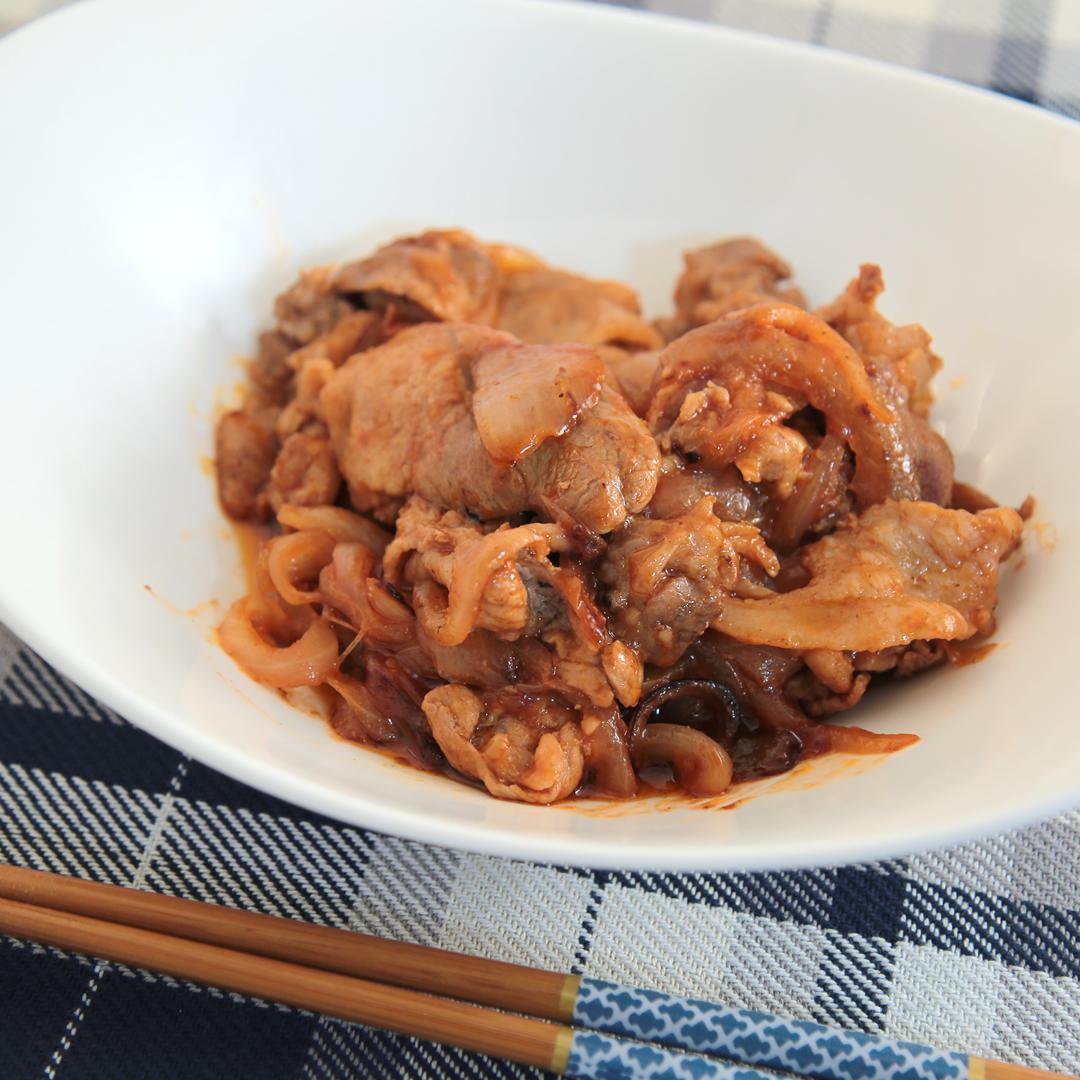 小池さん家の豚こま肉のスイートケチャップ炒め
