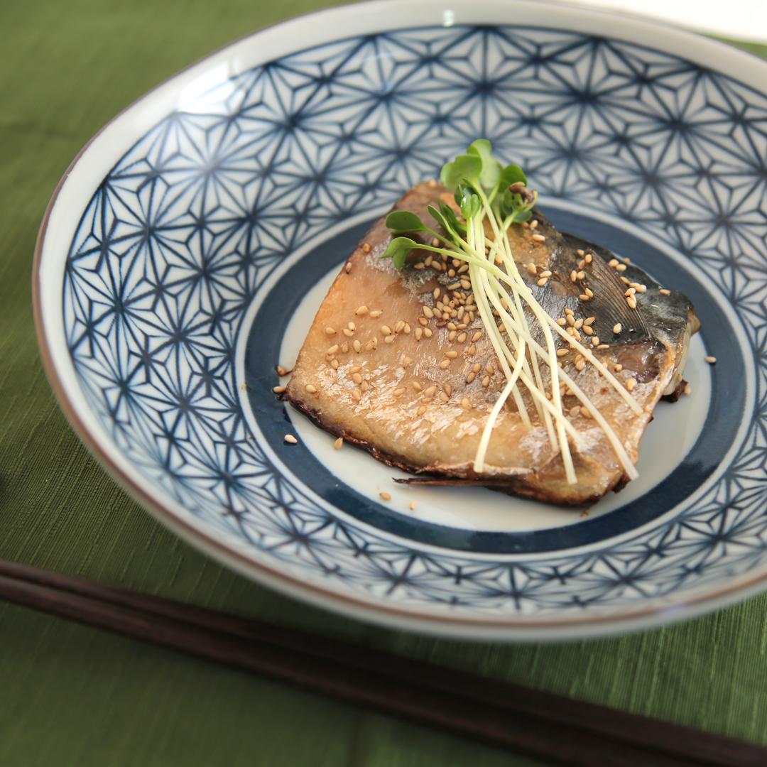ポタ子さん家の塩サバの赤酢焼き